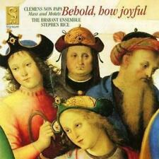 Jacobus Clemens Non Papa : Behold, How Joyful (Rice, Brabant Ensemble) CD
