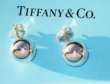 Tiffany & Co Argento City Hardwear Sfera 14mm x Grandi Orecchini di Perle