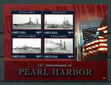 Grenada 2016 MNH Pearl Harbor Attack 75th Ann 4v M/S WWII Warships Ships Stamps