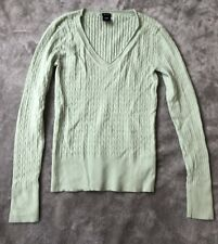 Gap Jumper Top Green Sweater Sz Small S Stretch Ribbed Long Sleeve Knit