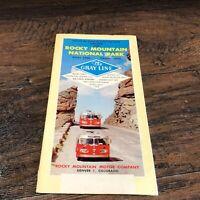 Vintage 1958 ROCKY MOUNTAIN National Park Travel Brochure Tourist Guide