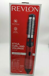 NEW Revlon 2 in 1 Perfect Heat Style Hot Air Brush Curler Blow Dryer Ceramic Red