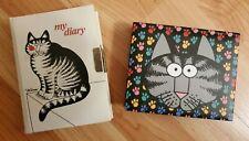B. Kliban Vintage 70's My Diary Big Cat + Note Card Box