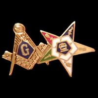 Masonic Master Mason Blue Lodge and Order Eastern Star One Inch Wide Lapel Pin