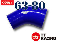 """Samco Silicone 45 Degree Reducer Elbow Hose Pipe 63mm - 80mm 2.48"""" - 3.15"""""""