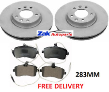 FOR PEUGEOT 407 1.6 1.8 2.0 (2004-2011) TWO FRONT BRAKE DISCS & PADS SET (283MM)