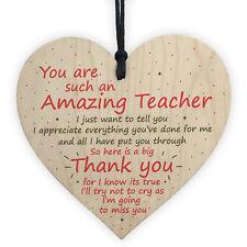 Thank You Teacher Gift Heart Leaving School Nursery Teaching Assistant Present