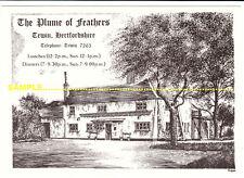 Tewin C1980s Plume of Feathers Pub advertising Art by Paul Castle nr Welwyn