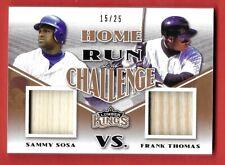 New listing 2020 Leaf Lumber Kings Sammy Sosa & Frank Thomas Bat X 2 HRC-06 15/25