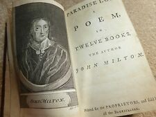 1700s John milton Paradise lost  A poem in twelve  books antique book