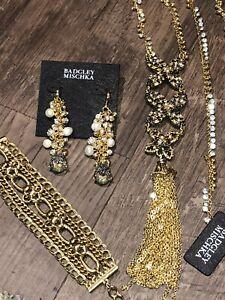 Badgley Mischka Long sparkly Rhinestone Earrings,❤ Beautiful Necklace, Bracelet