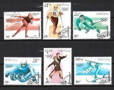 JO Hiver Laos (25) série complète de 6 timbres oblitérés