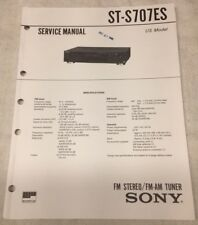SONY ST-S707ES FM STEREO/FM-AM TUNER ORIGINAL SERVICE MANUAL W/ SCHEMATIC M109