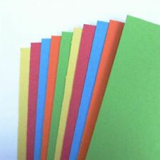 10 x A4 Recycled Coloured Card 300gsm Red/Orange/Blue/Yellow/Green NEW