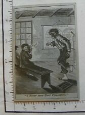 "BLUE CARD CLASSROOM SCENE ""I NEVER SAW THAT PIN-AFORE."" MAP OF AMERICA 1740"