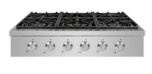 """NXR SCT3611 36"""" Pro-Style Natural Gas Cooktop, Stainless Steel"""