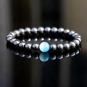 Unisex Therapeutic Energy Healing Bracelets Hematite Magnetic Women Men Bracelet