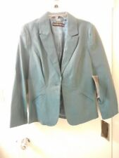 NEW WITH TAGS PAMELA MCCOY COUTURE TEAL LEATHER JACKET SIZE M