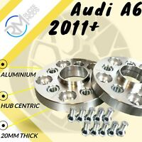 Audi A6 2011 on 20mm Alloy Hubcentric Wheel Spacers 5x112 66.6 1 pair
