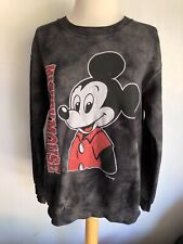 Mickey Mouse Official Disney Women's Stone Washed Junk Food Sweatshirt Sz Small