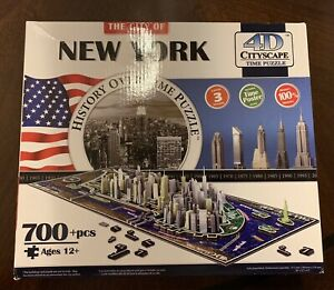 New York City 4D Cityscape Time Puzzle Glow in the Dark Streets 700 Pieces