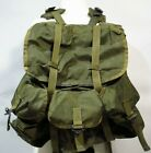 Vtg Eastern Canvas Products Army Green Rucksack Backpack 12x17