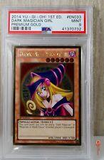 1st Ed Dark Magician Girl Holo Gold Ed Yu-Gi-Oh! Card PGLD-EN033 PSA 9 MINT