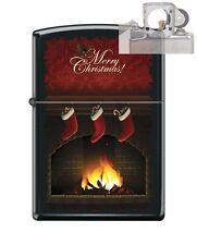 Zippo 218 merry christmas fireplace Lighter with PIPE INSERT PL