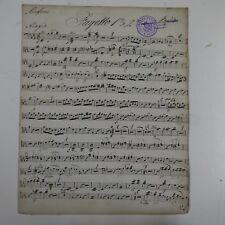 HAYDN SYMPHONY 99, basson-FAGOTTO partie, antique musique manuscrit