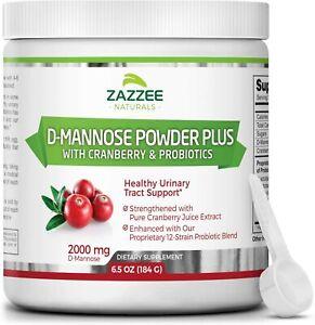 Zazzee D-Mannose Powder Plus, 67 Servings, 6.5 Ounces, Plus 5 Billion CFU...