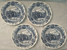 4 Vintage America Hurrah Dinner Plates J & G Meakin English Ironstone England