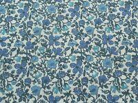 Liberty Tana Lawn Cotton Fabric MEADOW  'A' 2.0m Blue Floral Design 200cm