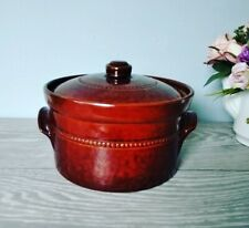Vintage Pearson's Of Chesterfield Medium Stoneware Hotpot Casserole Crockpot