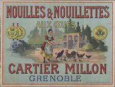 """""""CARTIER MILLON"""" Affiche d'intérieur originale Chromo-litho avant 1900 34x26cm"""