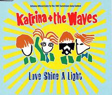 MAXI CD SINGLE 3T KATRINA AND THE WAVES LOVE SHINE A LIGHT EUROVISION 1997 TBE