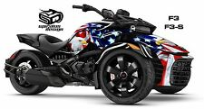 "Can Am Spyder F3 F3S Decal Graphic Wrap kit - ""Patriot USA. Bald Eagle"""