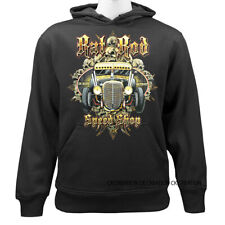 Rat Rod Speed Shop Garage Mechanic Casual Graphic Pullover Hoodie