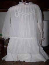 2 ANTIQUE DOLL/BABY DRESSES WITH PIN TUCKS, BRODERIE ENGLAIS SOME TLC NEEDED