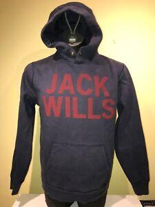 Jack Wills Blue Hoodie hooded cotton sweatshirt Medium unisex