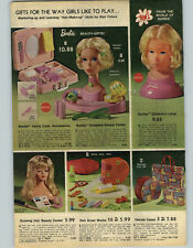 1974 PAPER AD Barbie Vanity Case Beauty Center Lamp Vinyl Night Light Blower