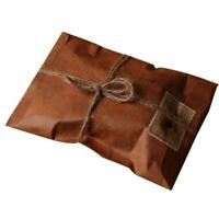 50Pcs Brown Craft Kraft Papers Envelope Retro Envelopes Letter Invitation J1O9