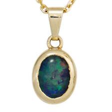 Unbehandelte ovale Echtschmuck-Halsketten & -Anhänger mit Opal-Hauptstein