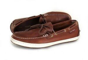Cole Haan Pinch Roadtrip Mens Boat Shoes Brown Leather 212850 Size 9 M