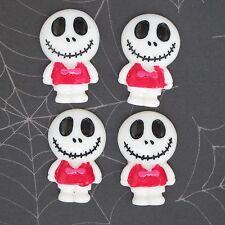 """US SELLER - 10 pcs x 1.25"""" Resin Skull Flatback Beads for Jack/Halloween SB614W"""