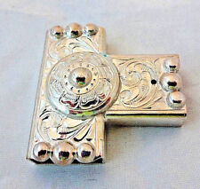 "Ear Slide Hansen One Ear Horse Headstall Sterling Silver Overlay 5/8"" Concho New"