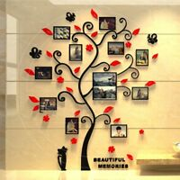 3D DIY Photo Frame Tree PVC Wall Decal Family Sticker Mural Art Home Room Decor