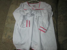 NEW! American Girl FLANNEL NIGHTGOWN SLEEPWEAR (XS) 6 White Pink  RETIRED