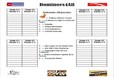 Dominoes Score Sheet Double Nine Cuban / Hojas De Puntos Domino Doble Nueve Cuba