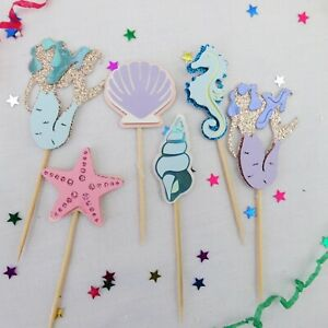 Cupcake Topper Mermaid Themed