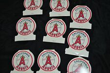 Vtg 1981 Lot 9 Matchbook Covers CALIF ANGELS BASEBALL Home Game Schedule NOS